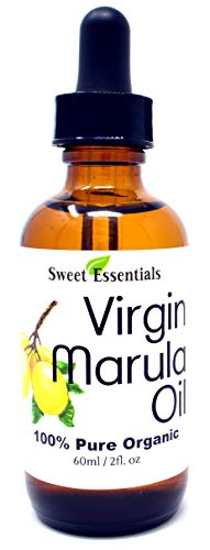 Organic Unrefined Marula Oil | Glass Bottle | Imported From South Africa | 100% Pure | Cold Pressed | Extra Virgin | For Hair, Skin & Nails | Non-GMO | Fair Trade (4 fl oz Glass Bottle)