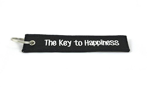 CG Keytags - Unique Key Chains for Motorcycles, Scooters, Cars, Gifts, and More (The Key to Happiness)