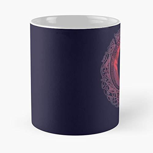 Edda Vikings Raven Celtic Knots Fire Coffee Mugs Set Of 4 Nicola Best 11 oz Taza De Café - Taza De Motivos De Café