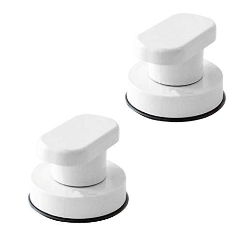 Sharplace 2x Manijas de Tirador de Puerta de Vidrio con Ventosa para Inodoro Y Ducha de Baño Duraderas