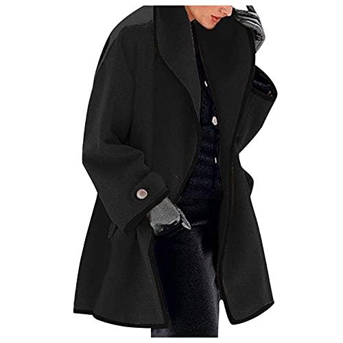 여성용 라펠 오픈 프런트 카디건 오버코트를 위한 파달렉스 롱 트렌치 윈터 코트 포켓이 달린 웜 아웃웨어 재킷