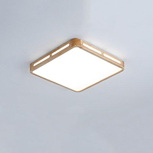 Ywyun plafond moderne conduit, des créations japonaises plafond en bois, chambre d'enfants carrés de salon, les lumières du couloir, 30 * 30cm (Color : 12w White light)