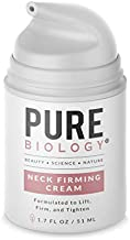 Premium Neck Cream with Clinically Studied SymLift, Shea Butter & Vitamin E, Firming Wrinkle Cream Helps Boost Collagen, Reduce Double Chin, Crepey Chest & Décolleté, Anti Aging Cream for Men & Women