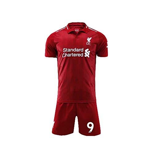 PAOFU-liverpool F.C. Roberto Firmino # 9 heren fan voetbal shirt set, rood, S