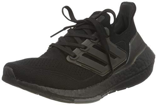 adidas Ultraboost 21 J, Zapatillas de Running Unisex Adulto, NEGBÁS/NEGBÁS/NEGBÁS, 39 1/3 EU
