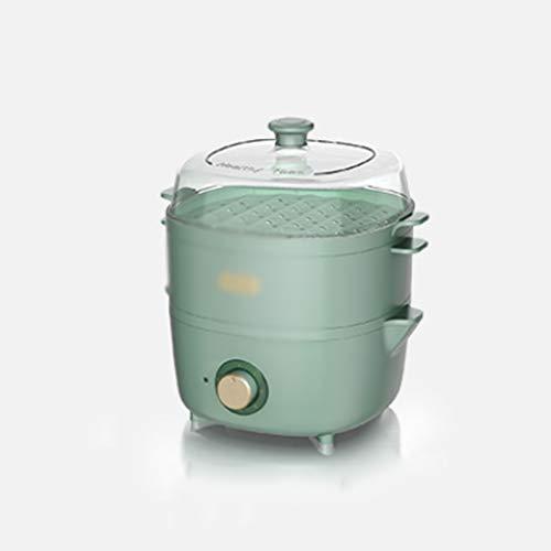 ZHGCHF Vaporizador eléctrico para el hogar, pequeña máquina de desayuno, doble capa, gran capacidad, vaporizador multifunción, vaporizador de apagado automático