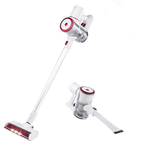 Fityou 15kpa Aspirador Vertical y de Mano Sin Cable Aspira Unlimited Cleaning - Aspirador Escoba con Cepillo Motorizado Flexible 180º, Luz LED, 2 Niveles de Potencia, Boquilla Combinada