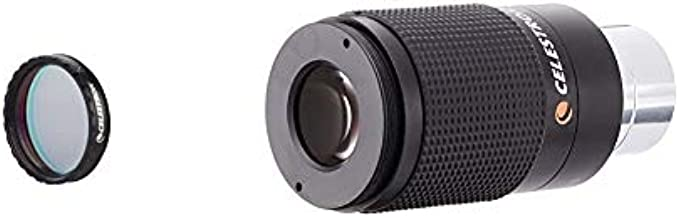 Celestron 93623 Narrowband Oxygen III 1.25 Filter & - Zoom Eyepiece for Telescope - Versatile 8mm-24mm Zoom for Low Power and High Power Viewing - Works with Any Telescope that Accepts 1.25