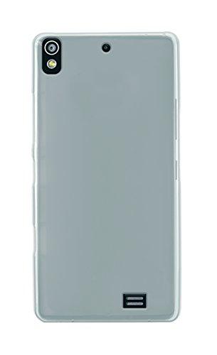 Phonix KA348GPW Gel Protection Plus Schutzhülle mit Displayschutzfolie für Kazam Tornado 348 durchsichtiges weiß