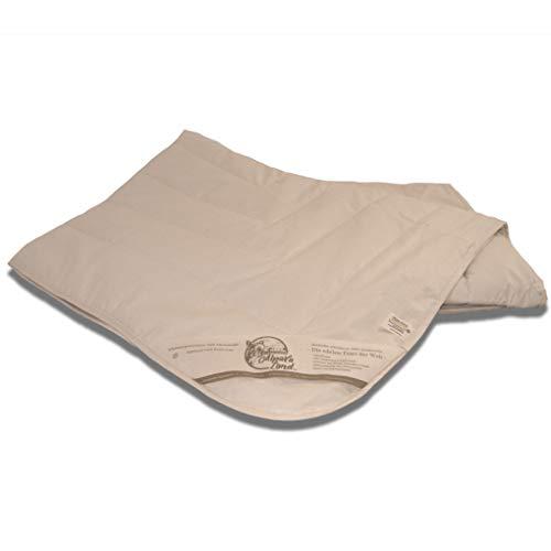 Gesünder schlafen: Alpaka Bettdecke BIO Füllmenge: 1800g - Steppdecke Natur aus 100% Alpakawolle, antiallergen, gefertigt in Deutschland (Duo 155x220cm)