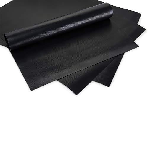 BeeClean PREMIUM Grillmatte 3er Set – 50 x 40 cm – Hochwertige Grillmatte für Gasgrill – Perfekte Backunterlage - Robust und extra dick – BBQ Matte zum Grillen - Rechteckig