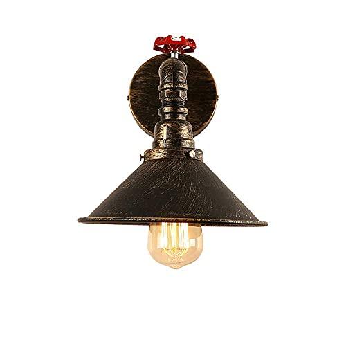UWY Illuminazione per Interni Loft Lampada da Parete Industriale Vintage per Tubo dell'Acqua E27 Lampada da Parete in Ferro battuto Edison Nostalgia Lampada da Parete per Comodino Cafe Bar Corri