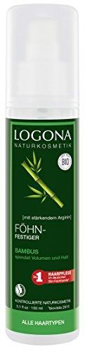 LOGONA Naturkosmetik Föhnfestiger Bambus, Langanhaltendes Volumen, Flexibler Halt, Für jeden Haartypen geeignet, Stylen von Frisuren, 150ml