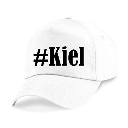 Reifen-Markt Base Cap Hashtag #Kiel Größe Uni Farbe Weiss Druck Schwarz