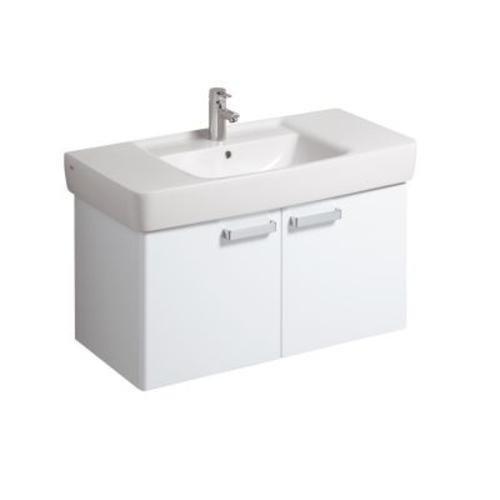 Keramag Waschbeckenunterschrank Renova Nr.1 Plan, 879100 93x44,5cm x46,3cm Weiß Hochglanz 879100000