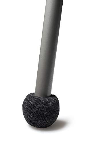 ajile Embout Patin Chausson Anti-bruit en Feutre Renforcé GRIS Graphite pour Pied de Chaise Diamètre 20 à 27 mm – Sachet de 4 pièces – FSS320x4-FBA