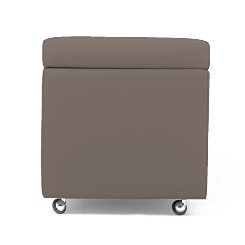pouf contenitore con ruote Arketicom Pandora Swing Pouf Contenitore con Ruote Ecopelle Puff Design 42X42h Talpa