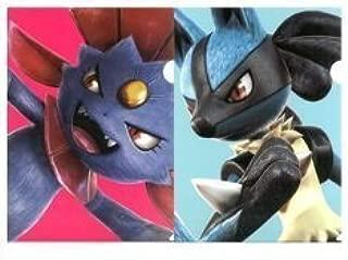 Most lottery pop fist POKKEN TOURNAMENT F Award Clear File Set Lucario & Manyura separately A4 2 pieces Pokemon BANPRESTO