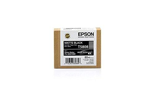 Epson Original C13T580800 / T5808, für Stylus Pro 3880 Premium Drucker-Patrone, Schwarz matt, 80 ml
