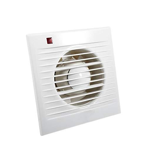 Aspiratore Aigid, 4'6' Ventilatore di scarico aspirante per bagno, WC, cucina, finestra, montaggio a parete, 220 V(6寸)