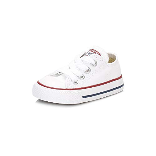 Converse Chuck Taylor All Star, Zapatillas de Lona Infantil, Blanco, 24 EU (8 UK)