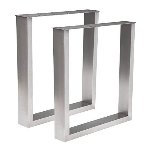 Holzwerk 1 Paar Design Tischgestell Edelstahl TUG 303 Tischuntergestell Tischkufe Kufengestell (700 x 700mm)