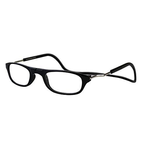 Opvouwbare leesbril die om de nek kan worden gehangen, nieuw in 2019 Black 150 graden