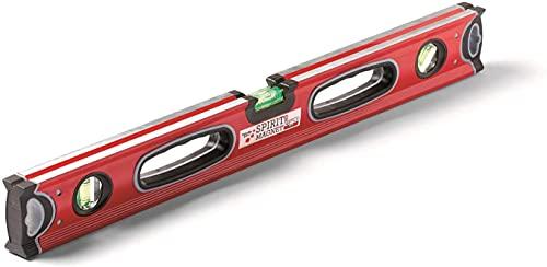Schuller Eh´klar Wasserwaage mit Magnet, Spirit 80 cm mit zwei Griffen, 31113, leicht, handlich und robust, ideal für jeden Einsatz