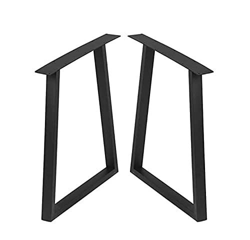 Juego de patas de mesa de metal, patas de mesa de hierro de tubo cuadrado resistente, patas de mesa de café, patas de mesa de café, patas de mesa de trabajo, tubo cuadrado (71 x 45 cm)