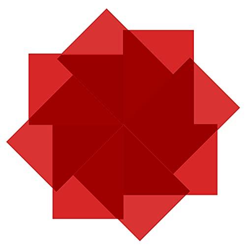 Selens - Lámina de color (40 x 50 cm, 8 unidades), color rojo transparente