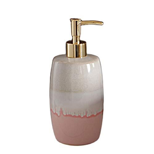 hanxiaoyishop Dispensador de Jabon Botella de loción Botella de cerámica Botella de hogar Desinfectante Hombre Champú Botella Champú Cocina Cocina Botella de Gel de Ducha Dispensador Jabon