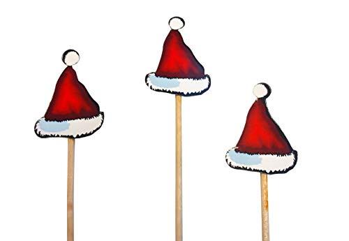 knusper.haus Party - Picker/Deko-Picker WEIHNACHTSMANN - MÜTZE (10-11 cm / 50 Stück) Weihnachten - Highlight