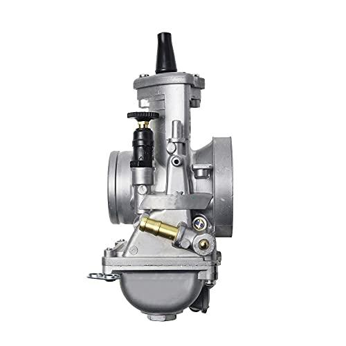 TYTG Carburador Carburador Universal 34 36 38 40 42mm para Karts de Turno 2T Scooter de Motocicletas de Carreras Accesorios de Auto (Color : PWM36mm)