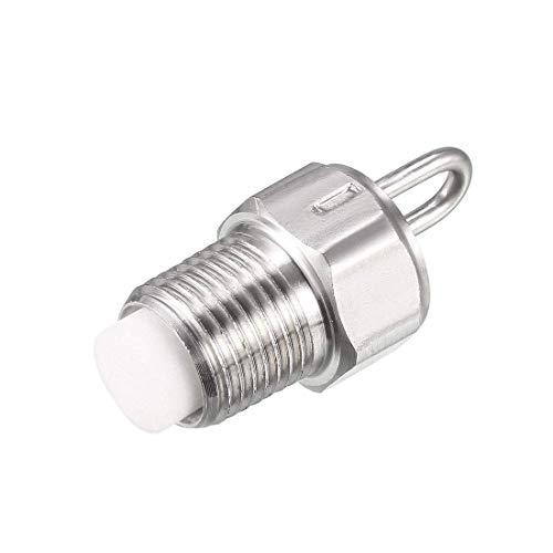 Boquilla de chorro de nebulización de pasador DyniLao, diámetro de pulverización de orificio de 0,5 mm, acero inoxidable 304 con filtro de algodón, rosca 1 / 8BSPT