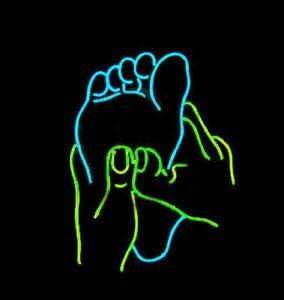 Amymami Beer Bar Foot Massage Spa Ranking TOP11 Neon Lamp 17inx17in Philadelphia Mall Sign Light