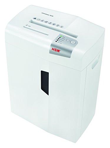 HSM shredstar X20 Cross-Cut Shredder; Shreds Up to 20 Sheets; 6.9-Gallon Capacity Shredder, White