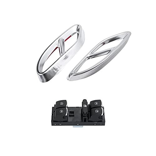Lyjun Tubo de Escape de automóviles Thip Throat Refit para Mercedes S e C Glc Un Interruptor de Vidrio de Ventana C207 de B-Class para Pas/Sat 6 para Golf (Color : Silver Black)