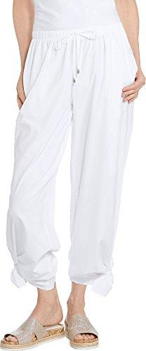 Coolibar UPF 50+ Women's Petra Wide Leg Pants - Sun Protective (Small- White)