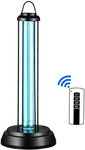 Luz UV, luz de desinfección UV-C, lámpara germicida UV portátil con control remoto de ozono Tercera sincronización, esterilizador de bombilla ultravioleta para hogar, escuela, oficina, hospital, etc.