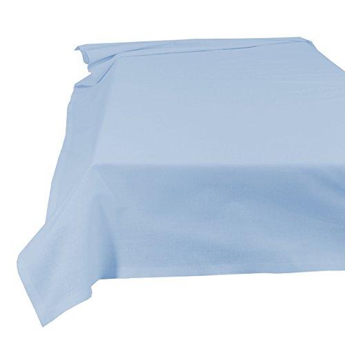 SHC Textilien Lenzuolo Casa Panno tovaglia 100% Cotone, Hellblau, 150 x 250 cm