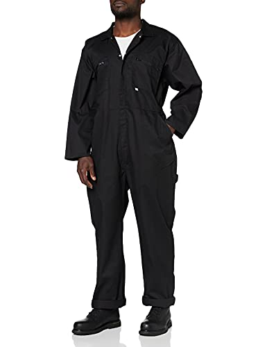 FORT 366/BK-46 46-Inch Zip Front Coverall Boilersuit - Bl