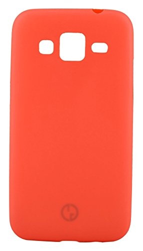 GoRogue Frosted Texture Ultra Slim Soft Smooth TPU Back Case Cover with Free Clear HD Screen Guard for Samsung Galaxy Grand Prime G530 (RED)