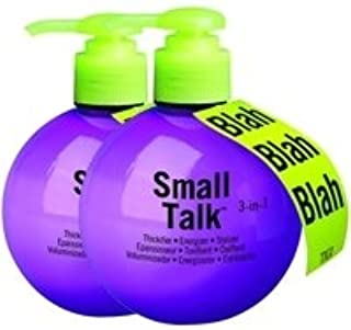 Thicken & Volume by Tigi Bed Head Hair Care Talk of the Party - Small Talk 3-in-1 Twin Pack 200ml