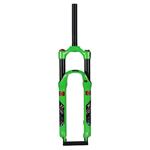 TYXTYX Horquilla de suspensión de Bicicleta MTB de 26/27.5/29 Pulgadas Aleación de Aluminio 1-1/8'Recorrido: 120 mm para Ciclismo de montaña - Verde