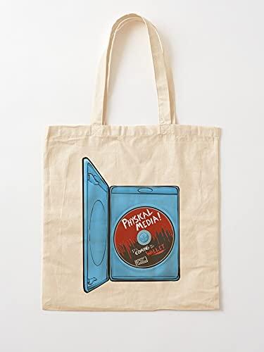 Générique Collection Horror Ray DVD Movies Blu Disc Film   Sacs d épicerie de Toile Sacs fourre-Tout avec poignées Sacs à provisions en Coton Durable