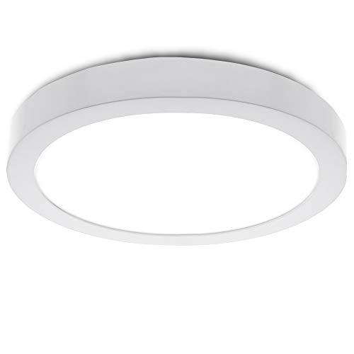 Greenice | Plafón LED de Techo Ø225Mm 18W 1190Lm 30.000H | Downlight LED | Panel LED Techo | Lamparas de techo | Salón, Pasillos, Dormitorio, Oficina, Baños | Blanco Cálido