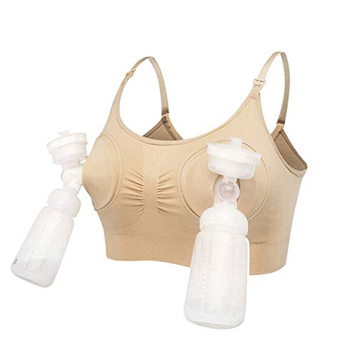 Springcmy Bomba de lactancia manos libres para mujer