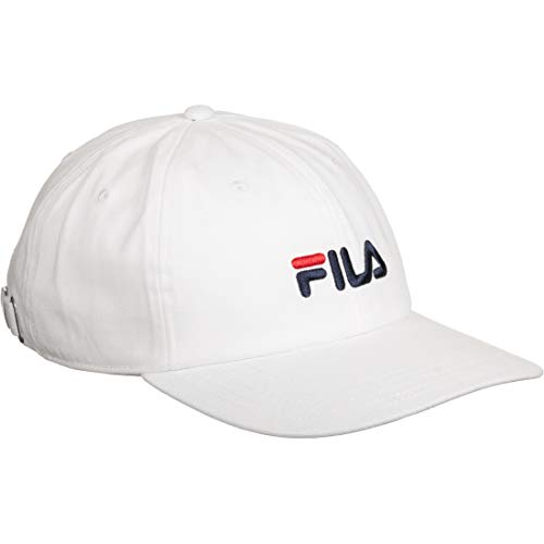 FILA Cap DAD Cap Strap Back LINEAR Logo 685034 Weiss M67 Bright White, Size:ONE Size