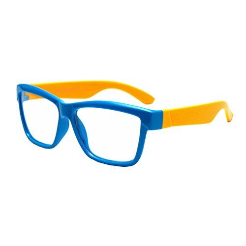 Juleya Juleya Kinder Gläser Rahmen - Silikon - Kinder Brillen Clear Lens Retro Reading Eyewear für Mädchen Jungen - 180710ETYJJ06