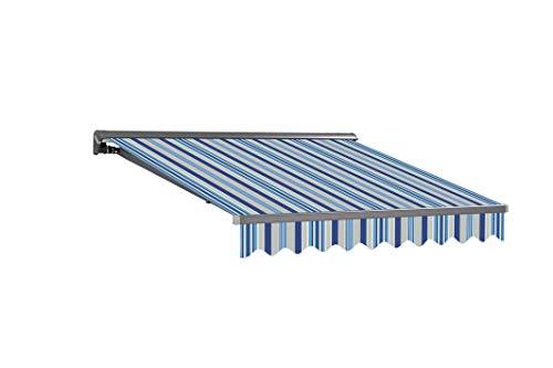 Markisen-Stoffe Zeltstoffe Sonnenschutz Markisentuch Markisenbespannung Ersatzstoffe Diverse Farben inkl. Volant fertig genäht (3x2,5m, SPD033)